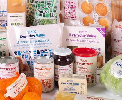 Everyday Value range at Tesco