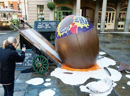 Creme Egg in Covent Garden