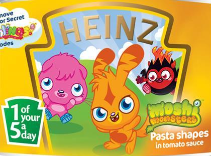 Moshi Monsters with Heinz canned pasta