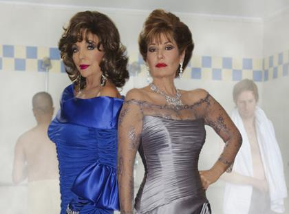Joan Collins and Stephanie Beacham