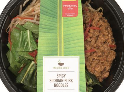 Marks & Spencer Spicy Sichuan Pork Noodles