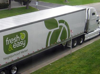 Tesco Fresh & Easy delivery truck