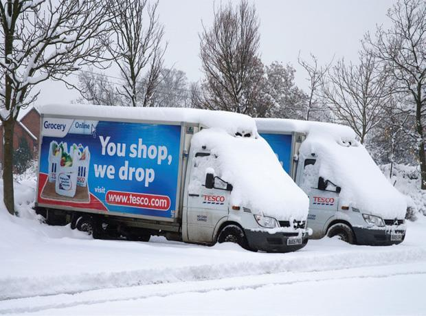 Tesco.com sets sales records despite the snow
