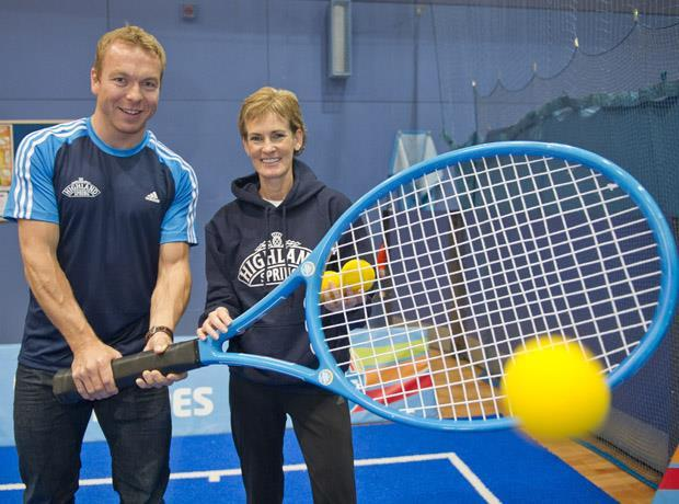Sir Chris Hoy and Judy Murray