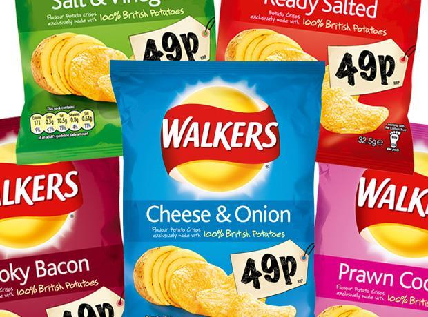 Walkers price-marked packs