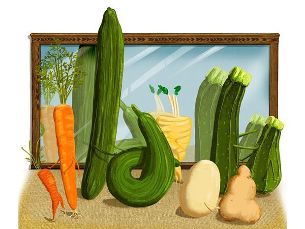 wonky veg art one use