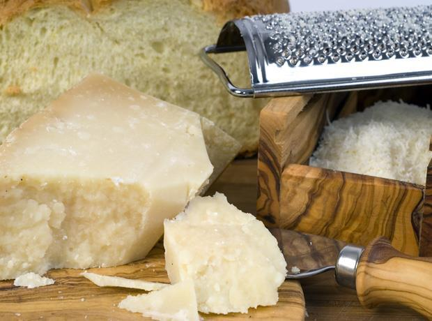 Italian hard cheese Grana Padano