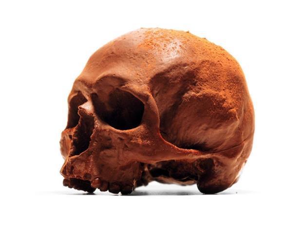 Selfridges chocolate skull