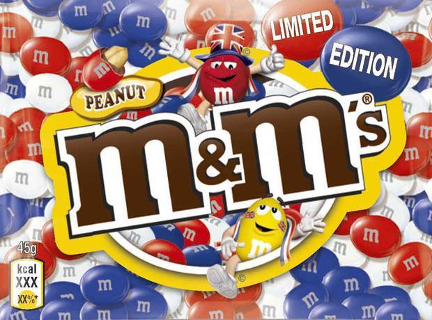 M&Ms Union Jack Jubilee limited edition