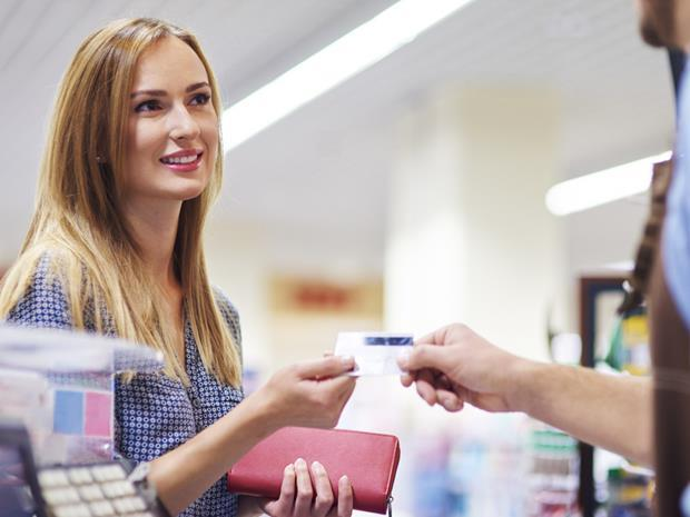shopper customer at checkout