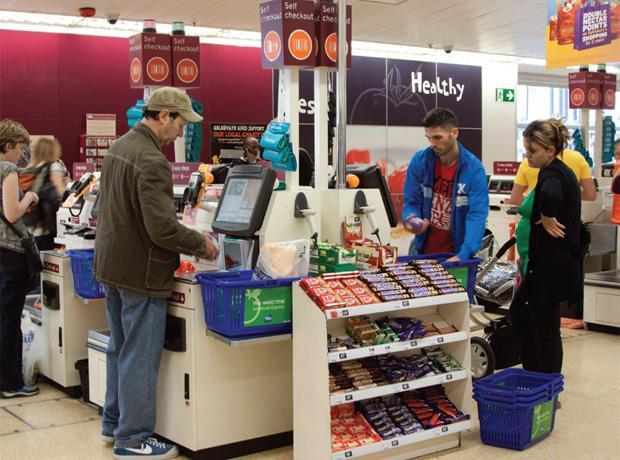 Unexpected item in self-service till survey